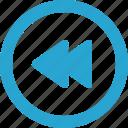 control, rewind icon