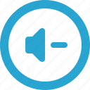 control, down, sound, volume icon