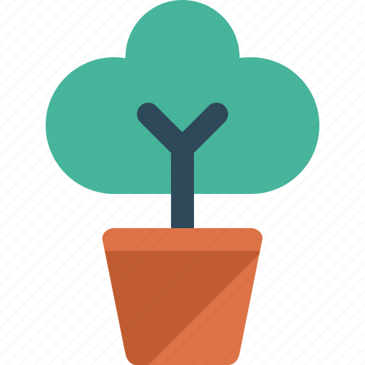 Plant, potted, flower, nature icon