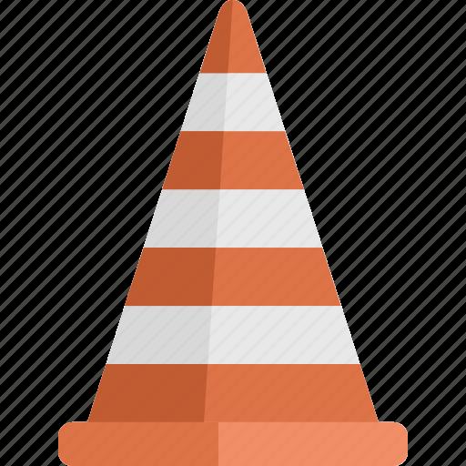 cone, traffic, traffic cone icon