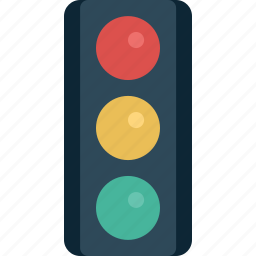 light, traffic, traffic light, transport icon