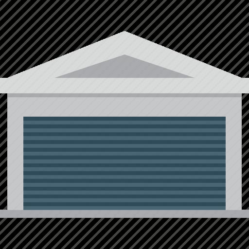 building, garage, garbage icon