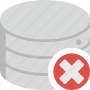 close, data, database, delete, remove, storage icon