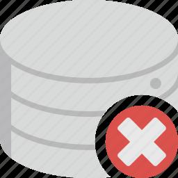 close, data, database, delete, remove, storage icon