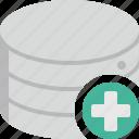 new, add, storage, plus, database, data