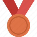 achievement, award, bronze, medal, prize, win, winner icon