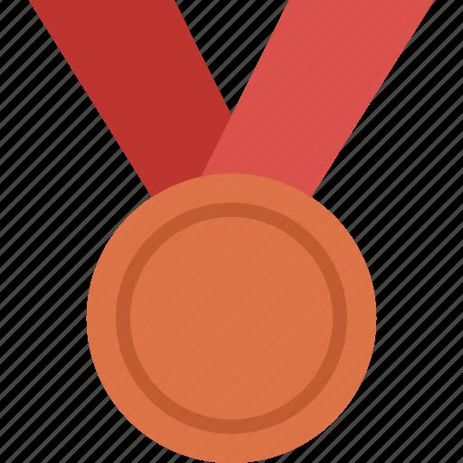 achievement, award, bronze, medal, prize, win, winner icon