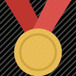 achievement, award, gold, medal, prize, win, winner icon