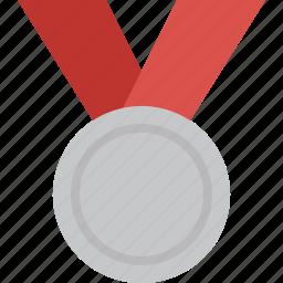achievement, award, medal, prize, silver, win, winner icon