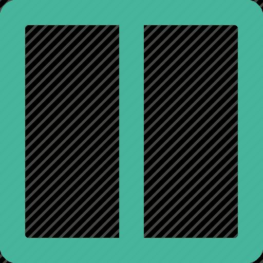 center, column, layout icon