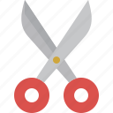 cut, scissor, tool icon