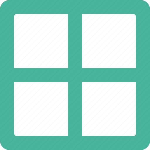 column, equal, layout icon