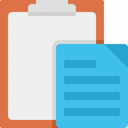 clipboard, paper, paste, text icon