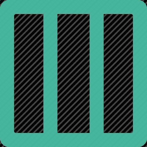 column, layout, three icon