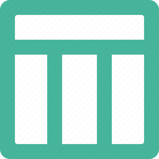 bar, column, layout, three, top icon