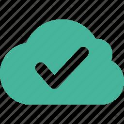 check, cloud, ok icon