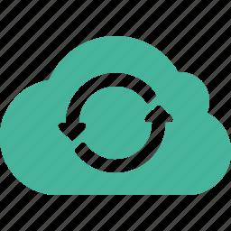 cloud, refresh, sync icon