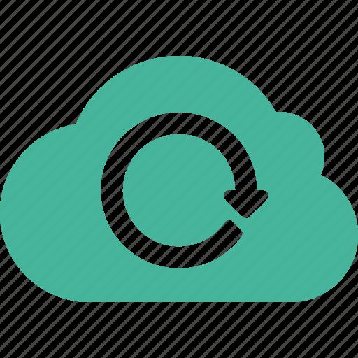 cloud, refresh icon