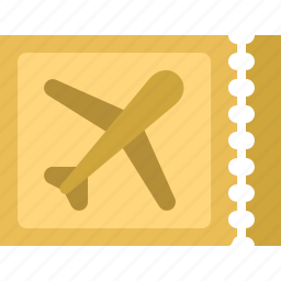 airplane, ticket, transportation, travel, vacation icon