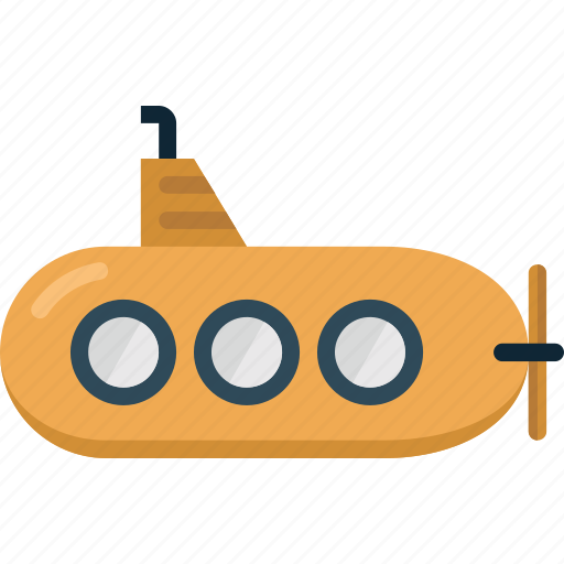 Submarine, travel, vacation, ship, ocean, under water, sea icon - Download on Iconfinder