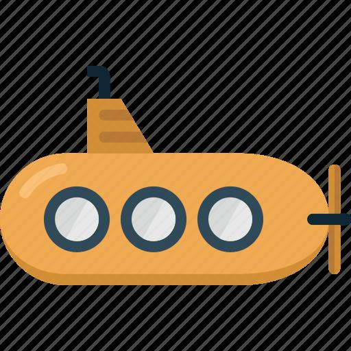 ocean, sea, ship, submarine, travel, under water, vacation icon