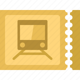 ticket, train, travel, vacation icon