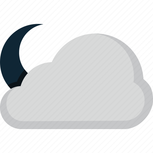 cloud, forecast, moon, weather icon