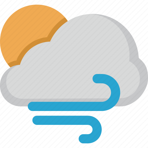 Weather, forecast, sun, wind, cloud icon - Download on Iconfinder