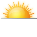 rising sun, sun rise, sunrise, weather icon