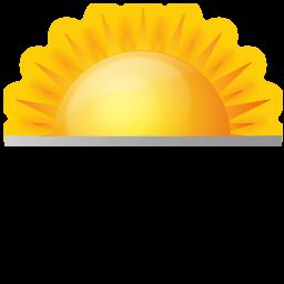 rising sun, sun rise, sunrise, weather icon