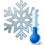 cold, snowflake, thermometer, winter icon
