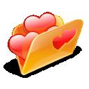 folder, hearts, love