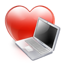 computer, favorite, heart, love