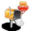 box, hearts, mail, mail box w/ hearts