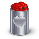 bin, recycle, roses icon