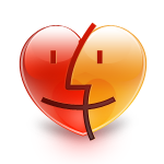 finder, heart icon