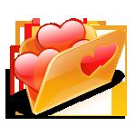 folder, hearts, love icon