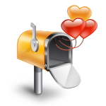 box, hearts, mail, mail box w/ hearts icon