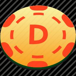 chips, dealer, orange, playing, poker icon