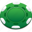 casino, chips, green, playing, poker icon