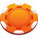 casino, chips, orange, playing, poker icon