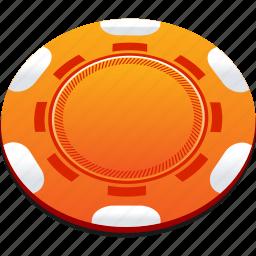 casino, chips, orange, playing, poker icon