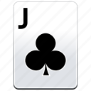 card, casino, clubs, deck, j, jack, poker icon