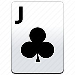 card, casino, clubs, deck, j, jack, poker icon