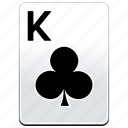 card, casino, clubs, deck, k, king, poker icon