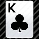 card, casino, clubs, deck, k, king, poker