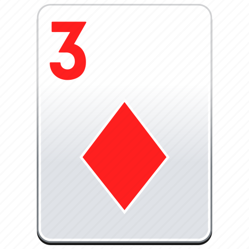 card, casino, deck, diamonds, poker, red icon
