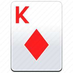 card, casino, deck, diamonds, k, king, poker, red icon
