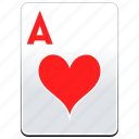 a, ace, aces, card, casino, hearts, poker icon