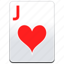 card, casino, hearts, j, jack, poker icon